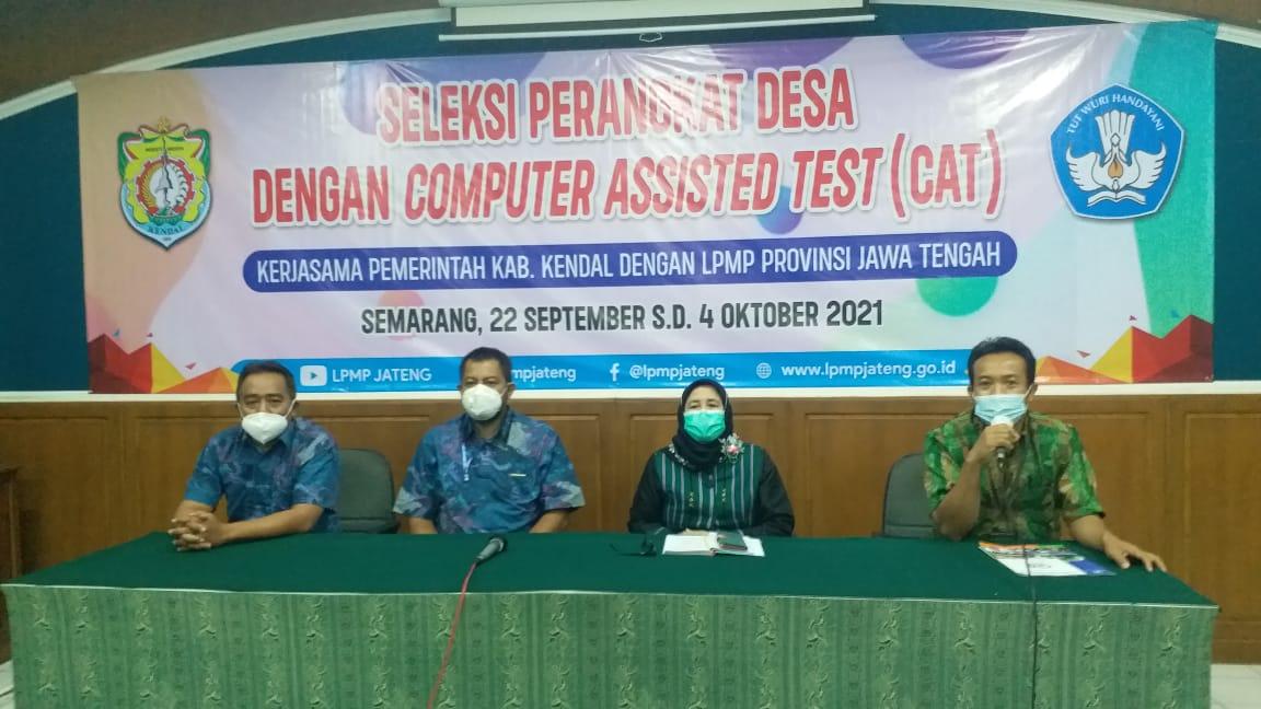 LPMP Jateng Fasilitasi Seleksi Calon Perangkat Desa Kabupaten Kendal Tahun 2021