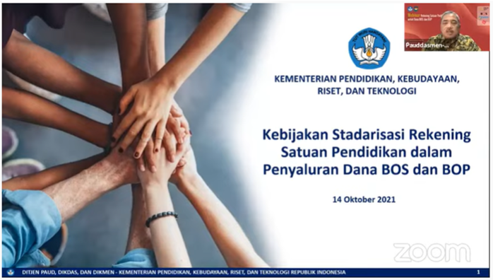 Standarisasi Rekening Satuan Pendidikan dalam Penyaluran Dana BOS dan BOP